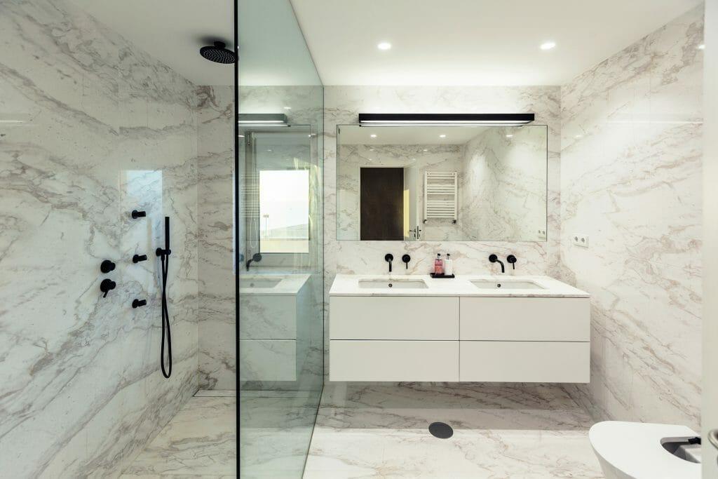 Marble bathroom interior design